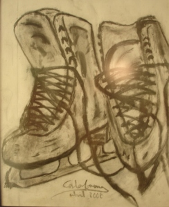 I drew these ice-skates... because they are part of me.