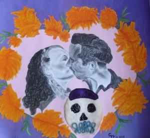 Mis abuelos. Homenaje de Día de Muertos.  Lo dibujé hace algunos años.