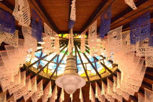 El techo del kiosko de Coyoacán