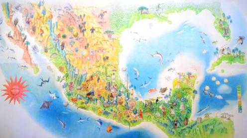 Mapa de la República Mexicana. Museo de Arte Popular.