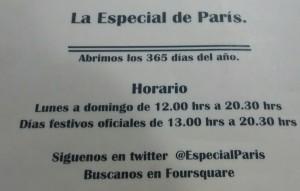 La Especial de París