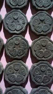 Muestra de la pared decorada con chocolate Mucho Mundo Chocolate