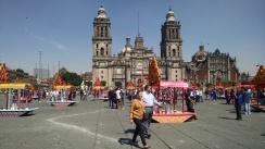 Ofrenda Trajineras Plaza de la Constitución Zócalo CdMX