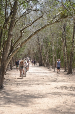 Bicicletas Cobá, zona arqueológica Quintana Roo