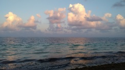 Atardecer. Despedida Puerto Morelos Quintana Roo
