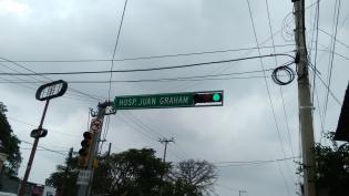 Camino al Hospital Juan Graham en Villahermosa, Tabasco