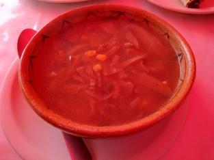 Exquisita sopa de setas Huasca, Hidalgo